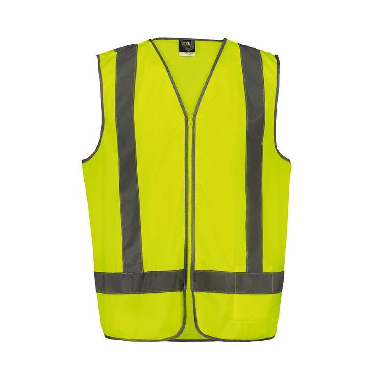 Rivet Hi Vis Vest, Yellow, hi-res