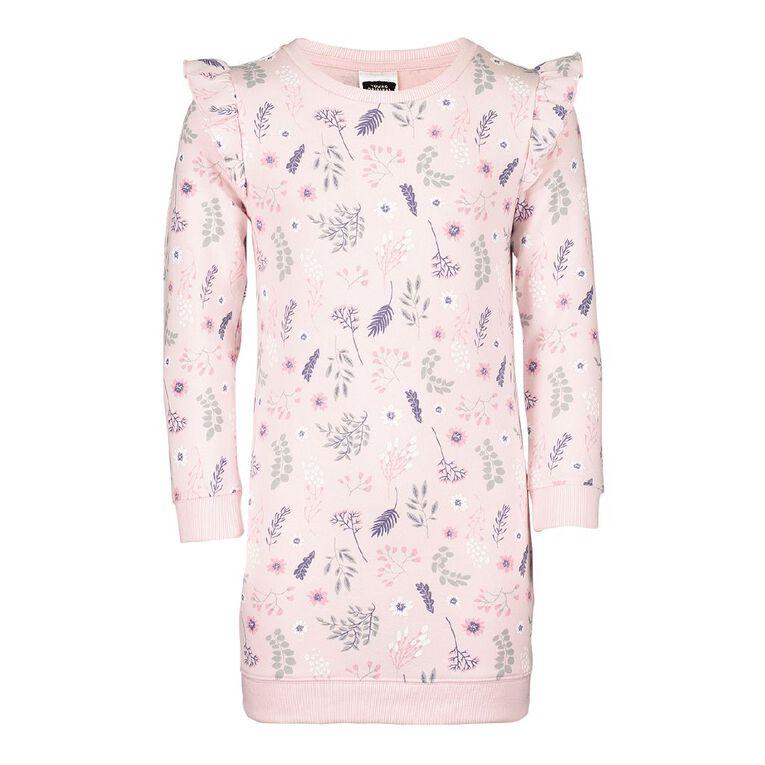 Young Original Flutter Sweater Dress, Pink Light, hi-res