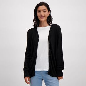 H&H Women's Button Through Cardigan