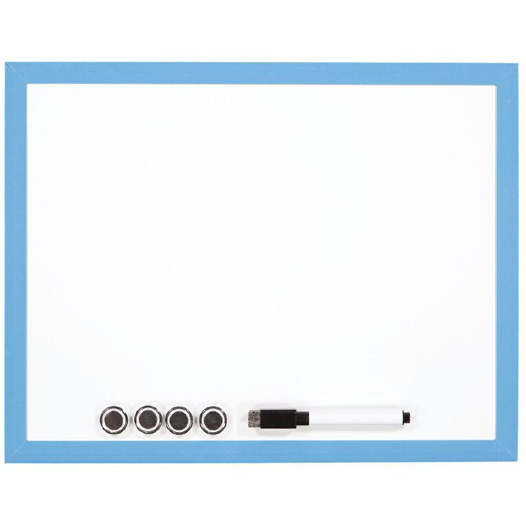 WS Magnetic Whiteboard 280 x 360mm Blue, , hi-res