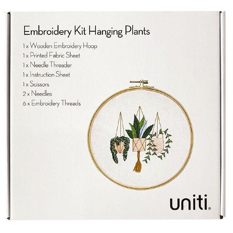 Uniti Embroidery Kit Hanging Plants 13 Pieces, , hi-res