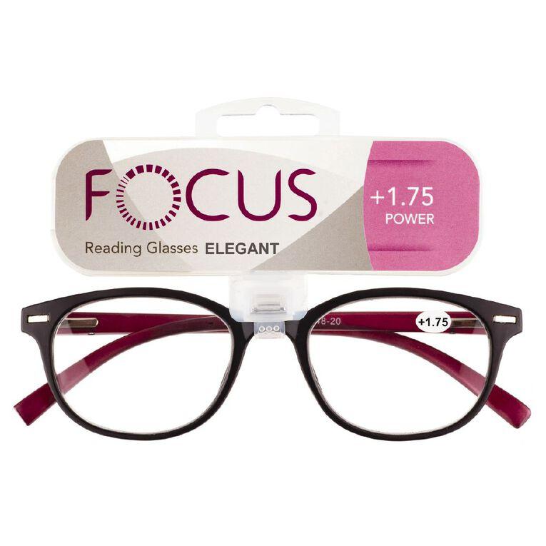 Focus Reading Glasses Elegant Power 1.75, , hi-res