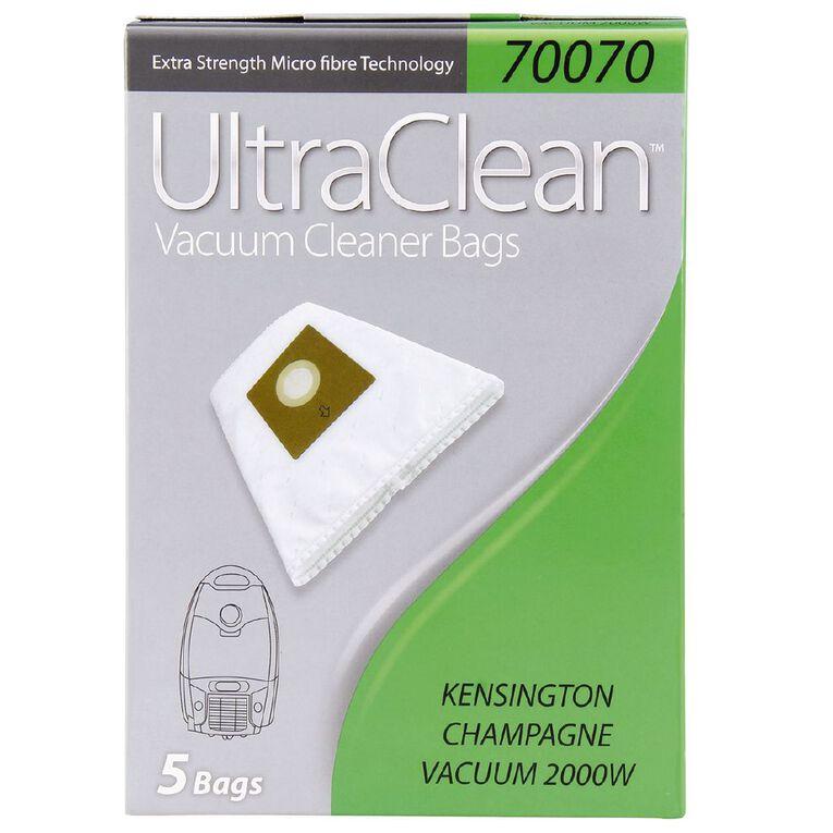 Ultra Clean Vacuum Bags For Kensington Champagne 5 Pack, , hi-res