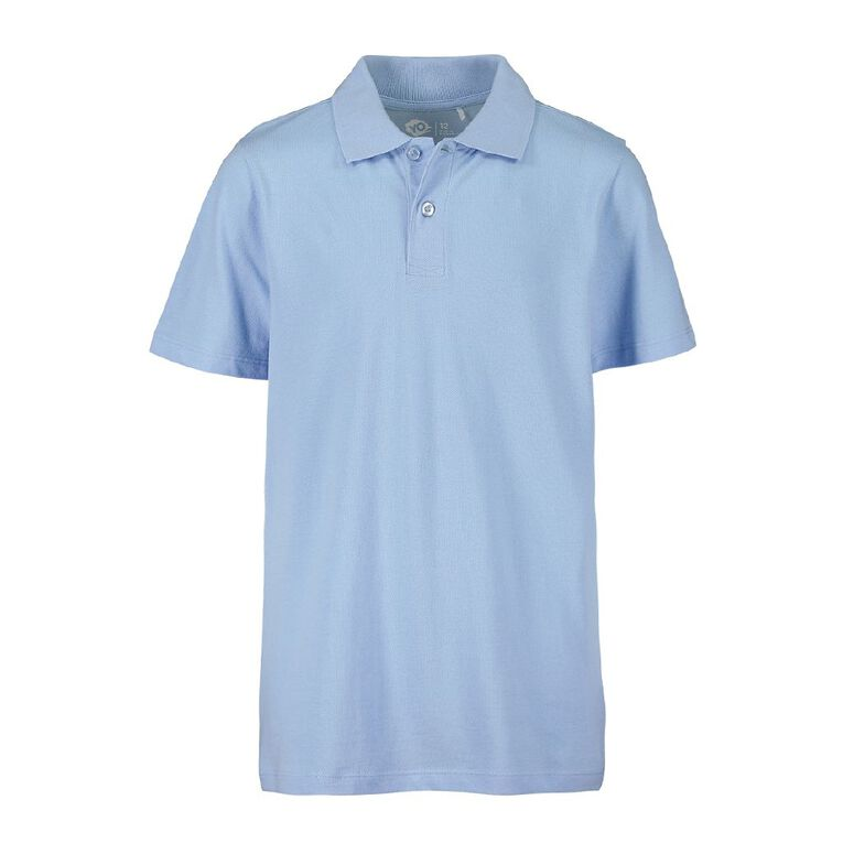 Young Original Kids' 2 Pack Plain Polo, Blue Light, hi-res image number null
