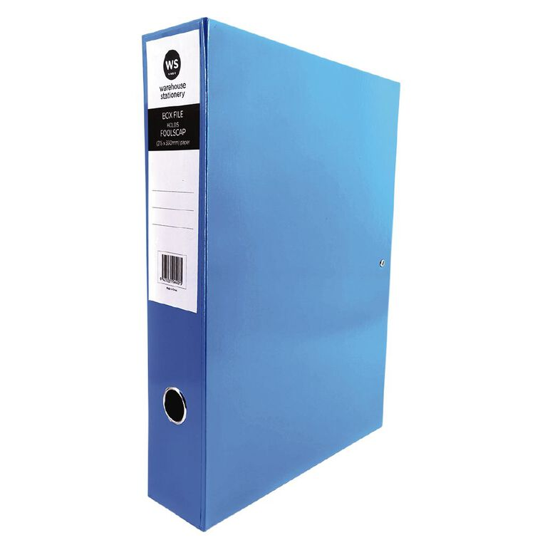 WS Pressboard Box File Fs Blue, , hi-res