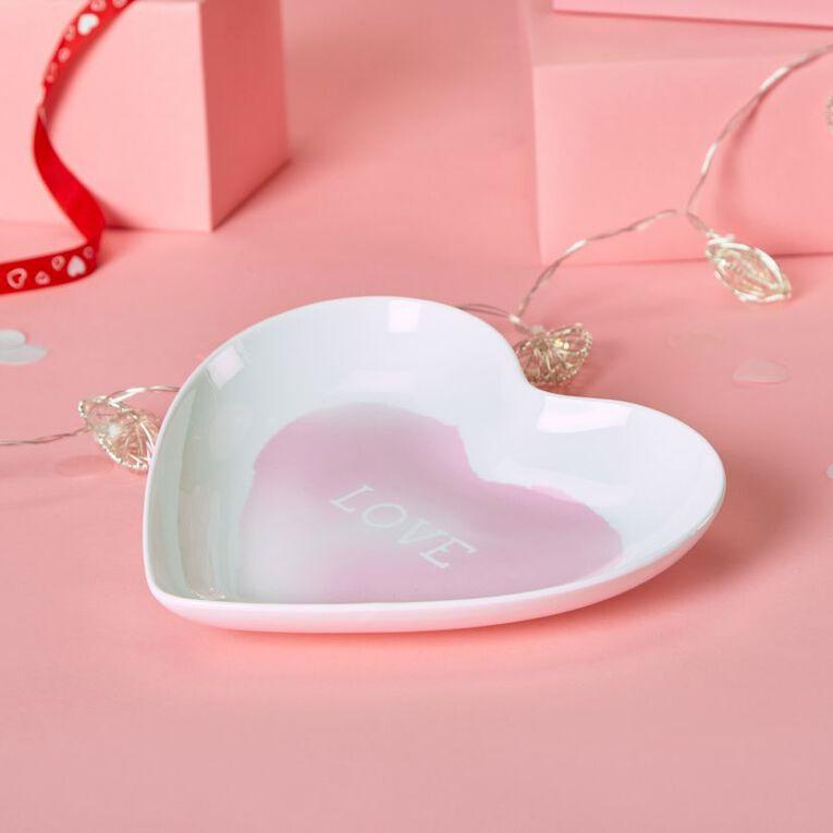 Party Inc Love Heart Plate 23cm, , hi-res