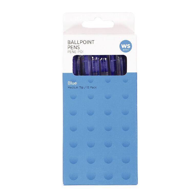 WS Ball Pens Sprint Grip 12 Pack Blue, , hi-res