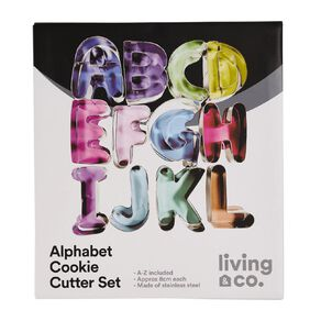 Living & Co Alphabet Cookie Cutters