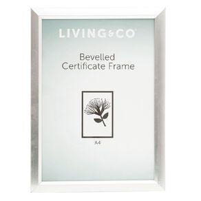 Living & Co Bevelled Certificate Frame A4
