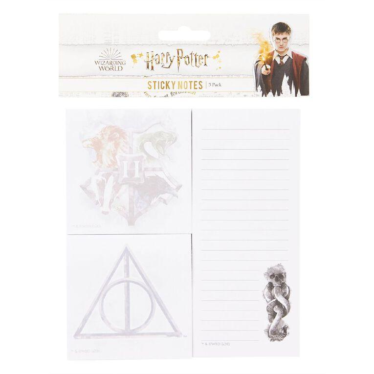 Harry Potter Sticky Notes Set White, , hi-res