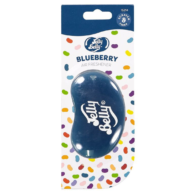 Jelly Belly 3D Hanging Car Air Freshener Blueberry Scent, , hi-res