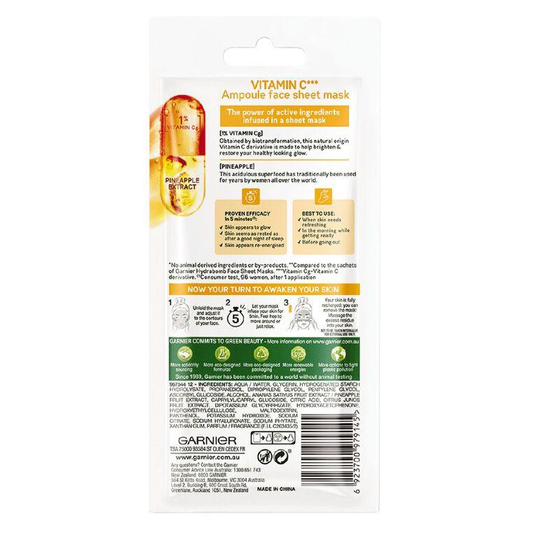 Garnier Skin Active Ampoule 5 Min Sheet Mask Vit C, , hi-res