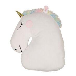 Living & Co Kids Cushion Sweet Unicorn White 40cm x 30cm
