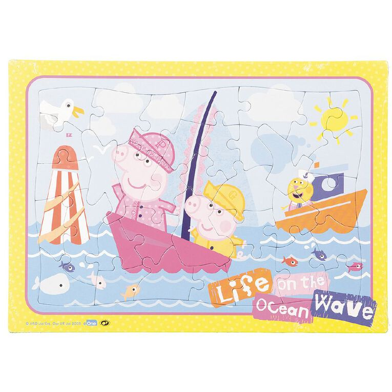 Peppa Pig Puzzle Frame Tray 35 Piece Assorted, , hi-res