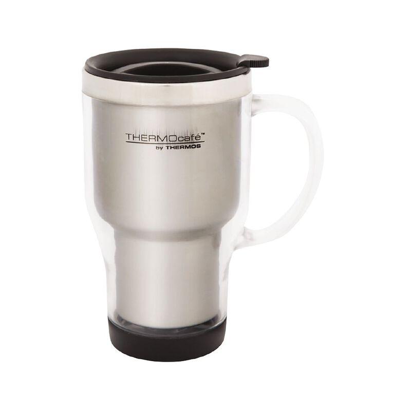 Thermos Travel Mug With Handle Grey 450ml, , hi-res