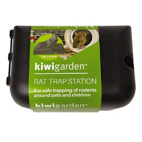 Kiwi Garden Rat Trap Box includes Snap Trap