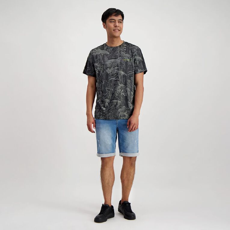 Back Country Men's Cooldry Spliced Camo Tee, Charcoal, hi-res image number null