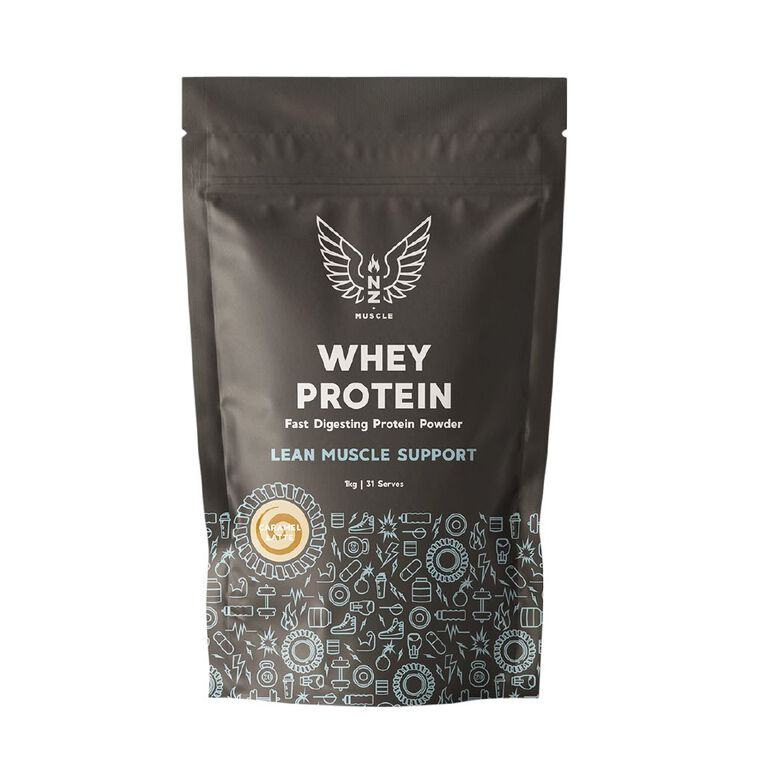 NZ Muscle Whey Protein Caramel Latte 1Kg, , hi-res