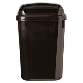 Living & Co Flip Lid Rubbish Bin Black 4.5L