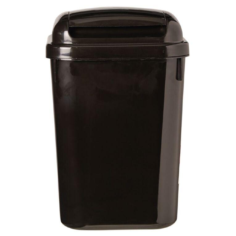 Living & Co Flip Lid Rubbish Bin Black 4.5L, , hi-res