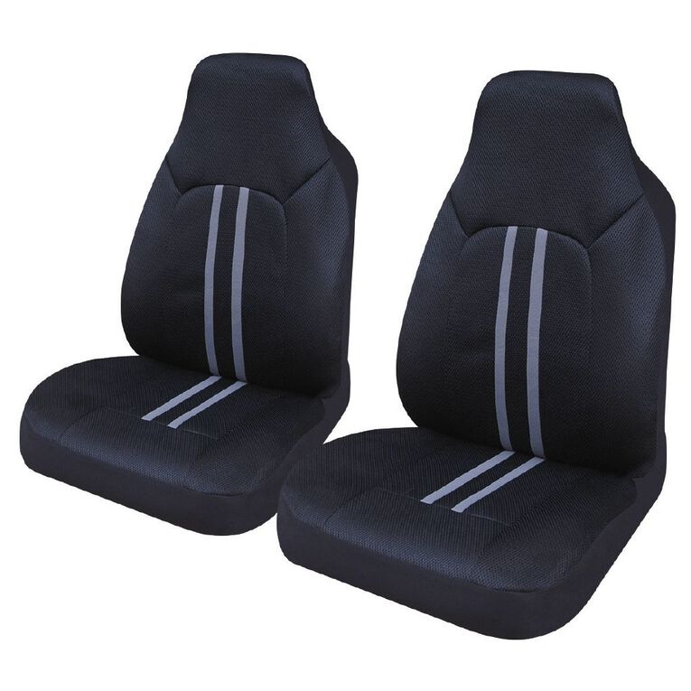 Mako Car Seat Cover Polyester Front Pair High Back, , hi-res