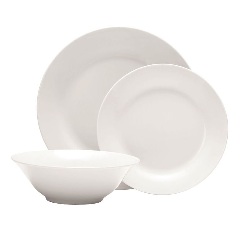 Living & Co Essentials Dinner Set White 12 Piece, , hi-res