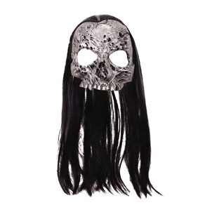 Amscan Half Mask with Wig Assorted One Size