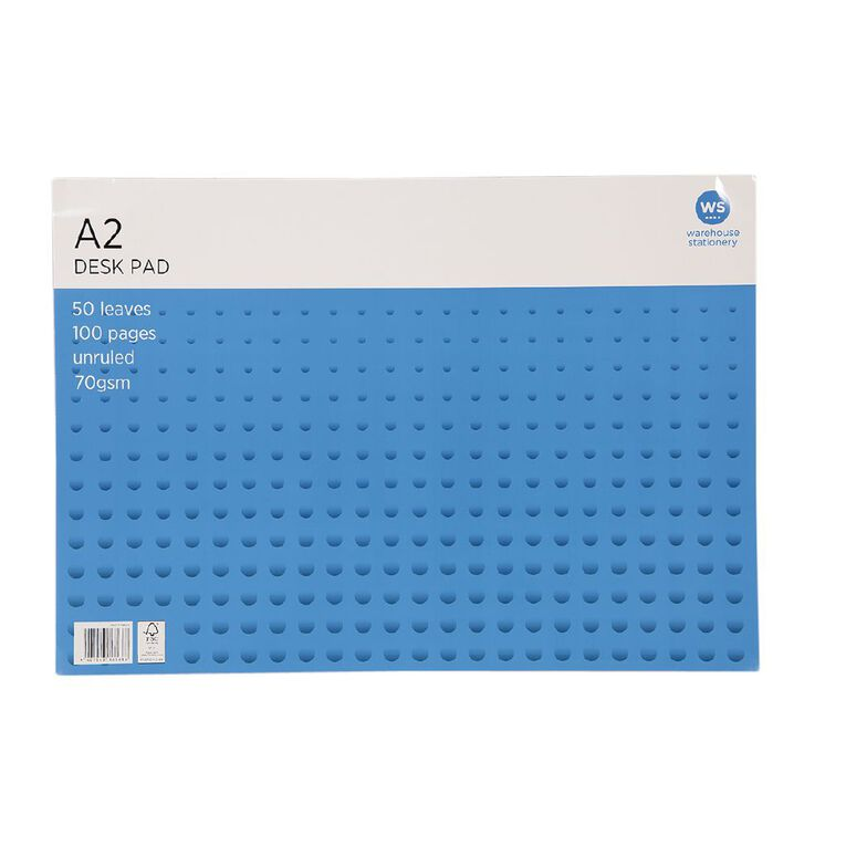 WS Desk Pad 50 Leaf 70gsm Fsc Mix White A2, , hi-res