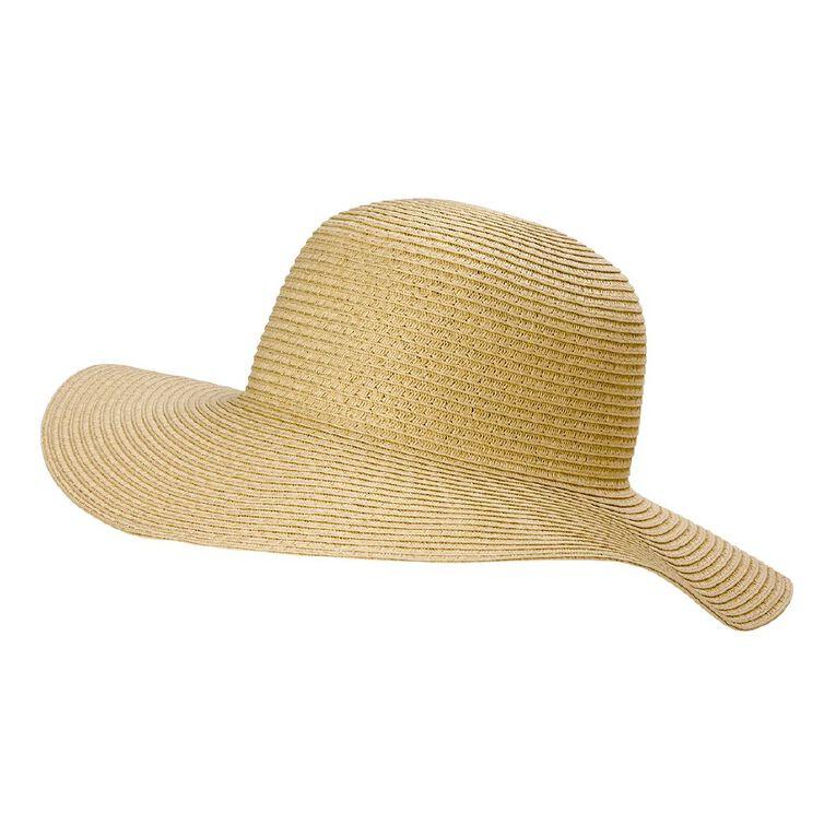 H&H Women's Classic Mid Brim Hat, Natural, hi-res