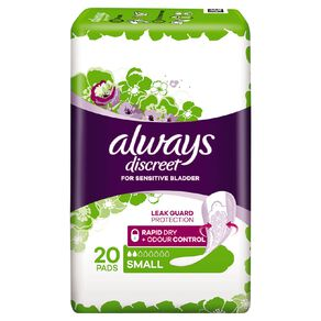 Always Discreet Pad Small 20 Pack