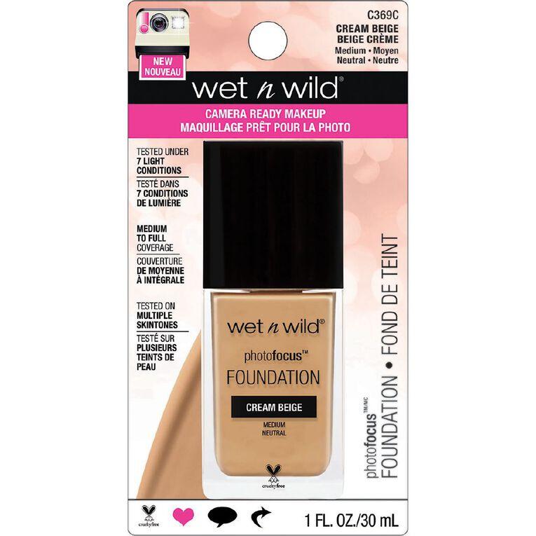 Wet n Wild Photo Focus Foundation Cream Beige, , hi-res