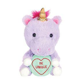 Love Hearts Unicorn Plush