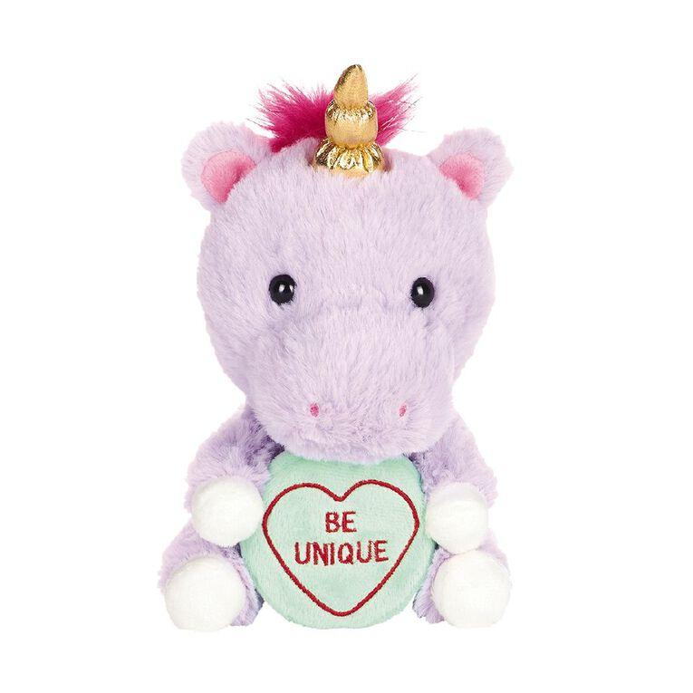 Love Hearts Unicorn Plush, , hi-res