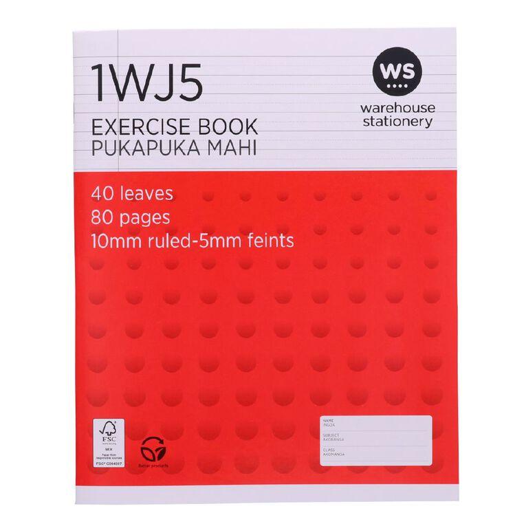 WS Exercise Book 1WJ5 5mm/10mm Ruled 40 Leaf, , hi-res