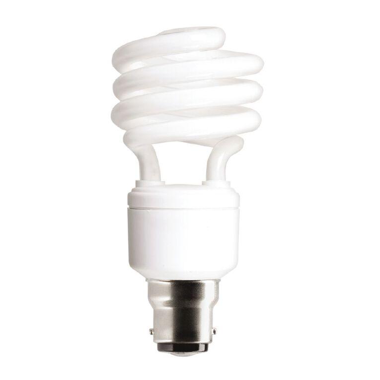 General Electric CFL Spiral B22 Light Bulb 23w Warm White, , hi-res
