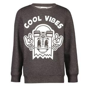 Young Original Crew Print Sweatshirt