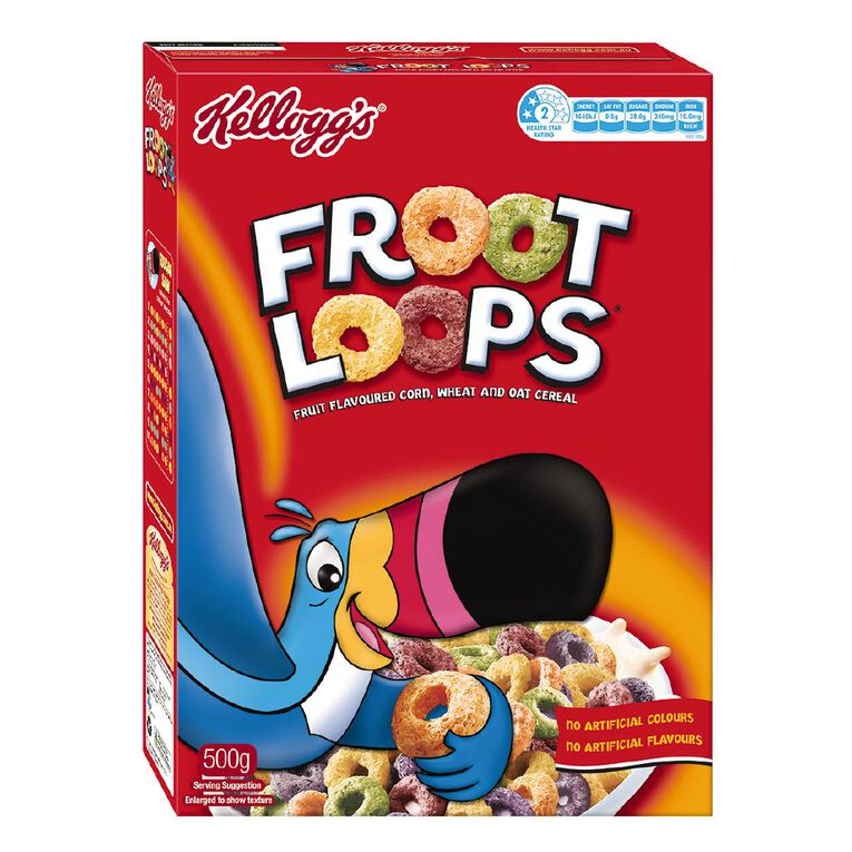 Kelloggs Froot Loops Cereal 500g, , hi-res