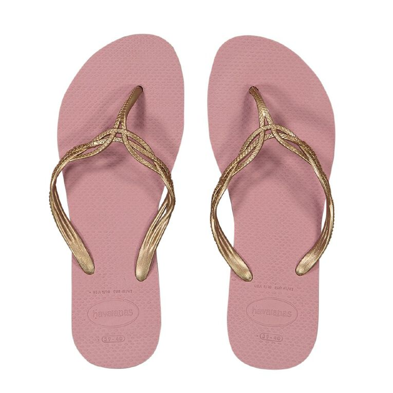 Havaianas Sweet Plain Jandals, Pink Light, hi-res