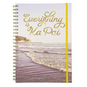 Uniti Fun & Funky Q4 Spiral Notebook Everything Ka Pai Blue Light A4