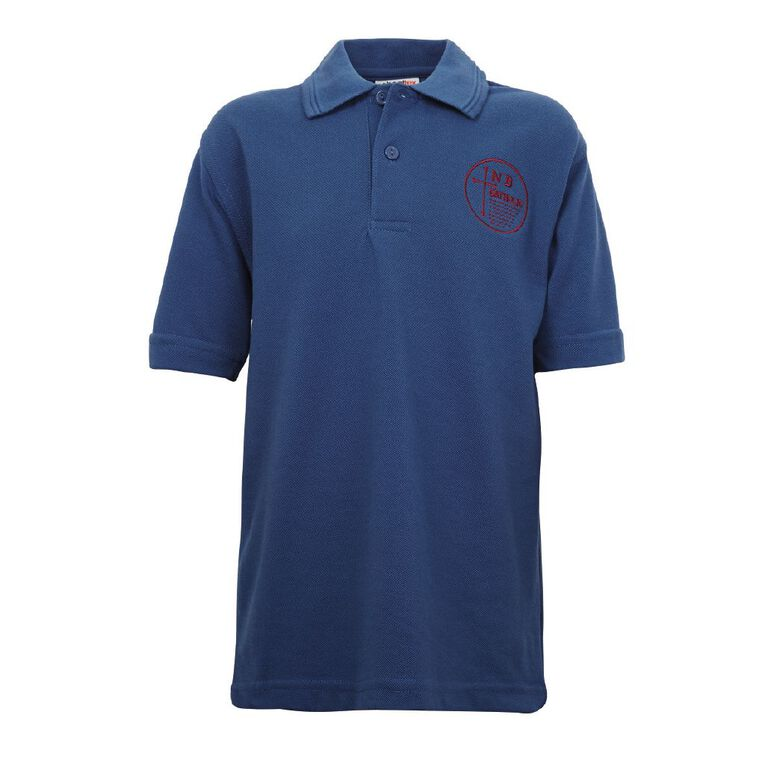 Schooltex New Bright Cath Short Sleeve Polo with Embroidery, Royal, hi-res