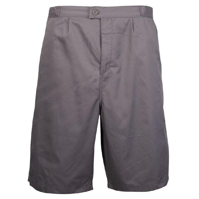 Schooltex Side Tab Summer Shorts, Grey, hi-res