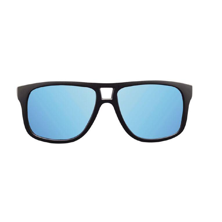 Men's Mirror Polarised Sunglasses, Black, hi-res
