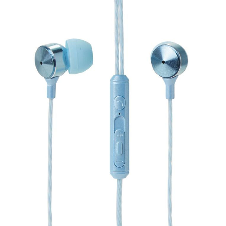 Tech.Inc In-Ear Earbuds with Mic and Volume Control Blue, , hi-res
