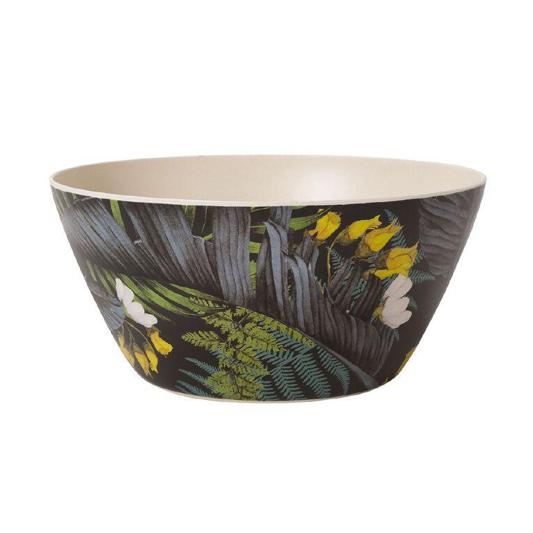 Living & Co Kiko Bamboo Salad Bowl Printed, , hi-res
