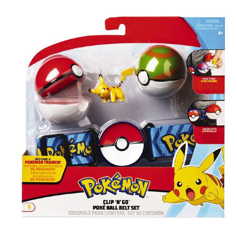 Pokemon Clip n Go Pokeball Belt Set Assorted, , hi-res