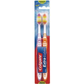 Colgate Extra Clean Medium Value 2 Pack Assorted