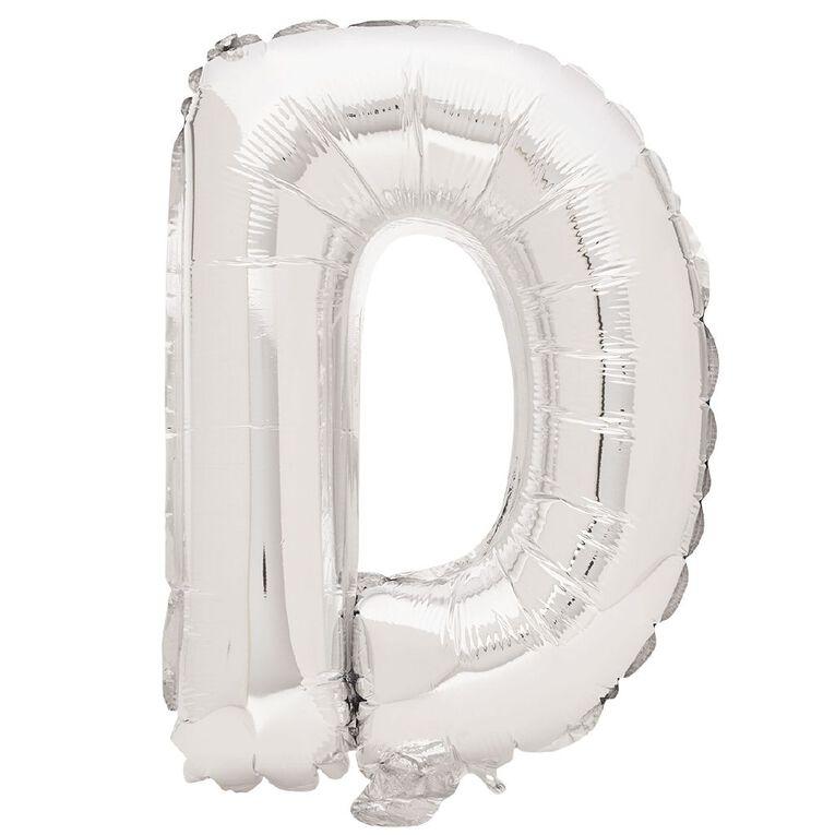 Artwrap Foil Balloon D Silver 35cm, , hi-res