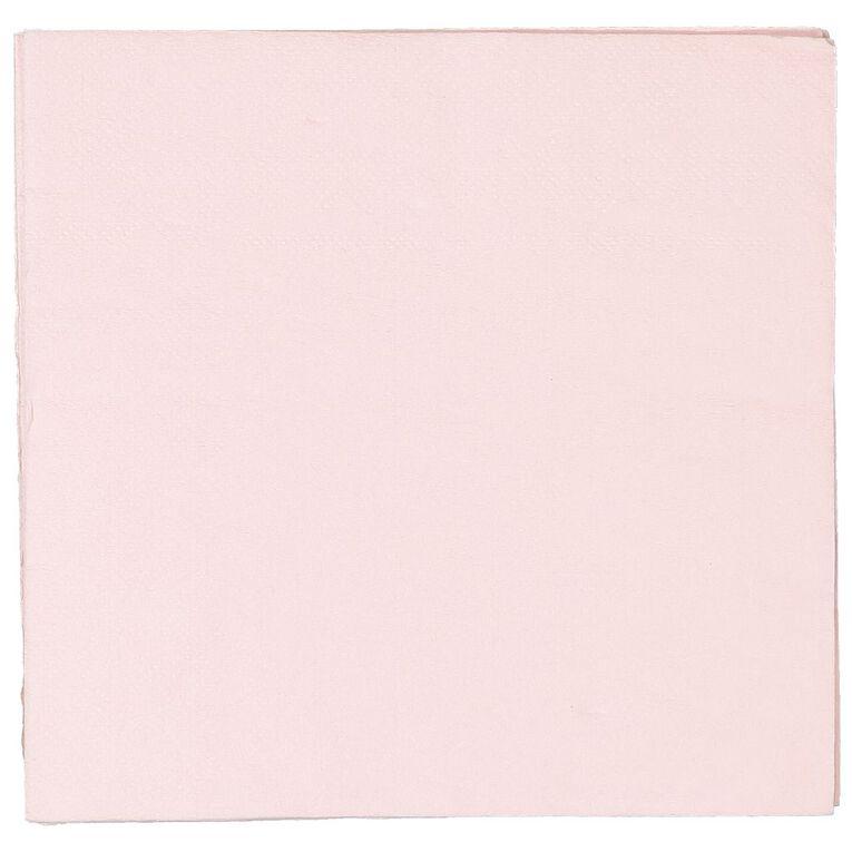 Party Inc Napkins 2ply 33cm Pastel Pink 50 Pack, , hi-res