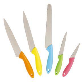 Living & Co Starter Knife Set Multi-Coloured 5 Pack