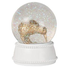 Living & Co Kiwi Bird Snow Globe 10.5cm x 10.5cm x 13cm Gold
